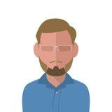 Blonder Mann des Vektors in einem blauen Hemd Lizenzfreies Stockfoto