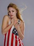 Blonder Patriot Lizenzfreies Stockfoto