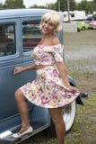 Blonder Pinup Stockbild