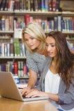 Blonder reifer Student, der ihrem Mitschüler hilft Lizenzfreie Stockbilder
