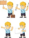 Blonder Rich Boy Customizable Mascot 16 Lizenzfreie Stockfotos