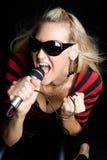 Blonder Sänger Stockbilder