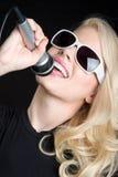 Blonder Sänger Stockbild