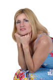 Blonder Schönheits-Denker Lizenzfreie Stockbilder