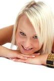 Blonder Schönheits-Schuß Stockfoto