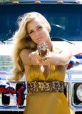 Blonder Schönheitsgangster Lizenzfreies Stockfoto