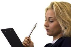 Blonder Sekretär Stockbilder