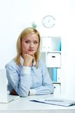 Blonder Sekretär Lizenzfreie Stockfotografie