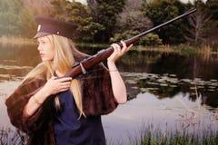 Blonder Soldat Lizenzfreie Stockfotos
