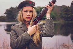 Blonder Soldat Stockbilder