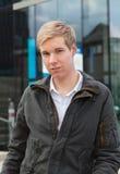 Blonder stattlicher Kerl Lizenzfreie Stockfotos