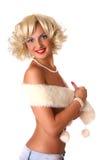 Blonder Stift herauf Mädchen Lizenzfreies Stockfoto