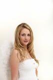 Blonder weiblicher Engel Lizenzfreies Stockfoto