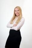 Blonder Yong-Frauenangestellter Lizenzfreies Stockfoto
