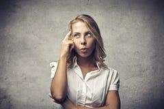 Blonder Zweifel Stockbild