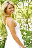Blondes Art- und Weisebaumuster Stockbilder