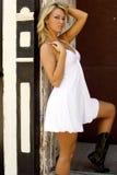 Blondes Art und Weisebaumuster Lizenzfreies Stockfoto