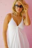 Blondes Art- und Weisebaumuster Stockbild