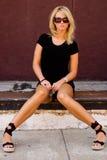 Blondes Art- und Weisebaumuster Stockfotografie