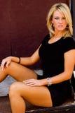 Blondes Art- und Weisebaumuster Lizenzfreie Stockfotos