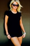 Blondes Art- und Weisebaumuster Stockfoto