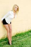 Blondes Art und Weisebaumuster Lizenzfreie Stockfotografie