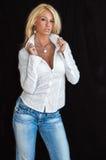 Blondes Art- und Weisebaumuster lizenzfreies stockfoto