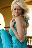 Blondes Art und Weisebaumuster Lizenzfreies Stockbild