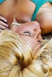 Blondes Art und Weisebaumuster Stockfotografie