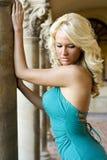 Blondes Art und Weisebaumuster Stockbild