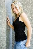 Blondes Art und Weisebaumuster Stockfoto