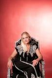 Blondes Art- und Weisemädchen-Portrait Lizenzfreies Stockfoto