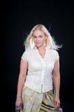 Blondes Art- und Weisemädchen-Portrait Stockbild