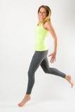 Blondes athletisches Frauenlaufen elegant Lizenzfreies Stockbild