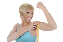 Blondes athletisches Mädchen Stockbild