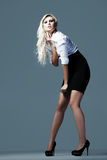 Blondes, attraktives Geschäftsmädchen 3 Stockfoto