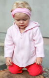 Blondes Babygebet Lizenzfreies Stockfoto
