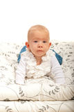 Blondes Babykriechen der Schönheit Lizenzfreie Stockbilder