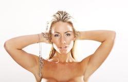 Blondes Baumuster Stockfotografie