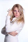 Blondes Baumuster der Schönheit Lizenzfreies Stockfoto