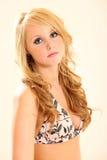 Blondes Bikini-Baumuster Lizenzfreies Stockfoto