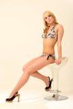 Blondes Bikini-Baumuster Lizenzfreie Stockfotografie