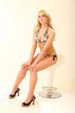 Blondes Bikini-Baumuster Lizenzfreie Stockbilder