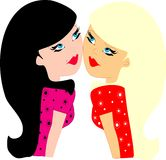 blondes brunettes απεικόνιση αποθεμάτων