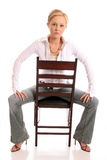 Blondes chair1 Lizenzfreies Stockfoto