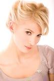 Blondes close up portrait Stock Image