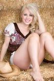 Blondes Cowgirl Lizenzfreies Stockfoto
