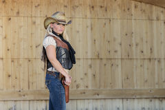 Blondes Cowgirl Stockfotos