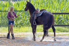 Blondes Cowgirl Stockbilder