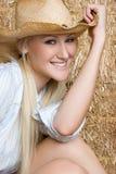 Blondes Cowgirl-Lächeln Lizenzfreie Stockbilder